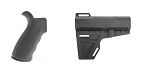 Delta Deals Omega Mfg. AR-15 Rear Beavertail grip, Rubberized Coating + KAK Blade Pistol Arm Stabilizer Brace BATF Approved