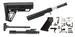 Trinity Force Alpha Stock AR-15 Finish Your Lower Rifle Kit - 12.7x42 (.50 cal)
