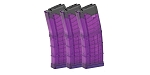 Lancer, Magazine, AR-15 L5 Advanced Warfighter, .223/5.56, 30Rd, Translucent Purple - 3 Pack