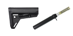 Magpul MOE SL Carbine Stock, Black + Omega Mfg. Mil-Spec Buffer Tube Kit