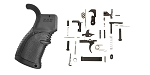 Delta Deals FAB Defense Rubberized Pistol Grip for M16/M4/AR-15 - Black + KAK AR-15 Lower Parts Kit w/ No Grip