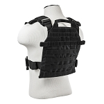 Vism Heavy Duty Plate Carrier Vest W/ Molle Straps With Ballistic Level IIIA Soft Armor Plate.  Stops .44 Mag & More  24 Hr Blowout Sale !!