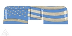 United Defense AR-15 Ejection Port Cover--American Flag U.S. Made - Blue