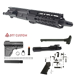 "Davidson Defense ""Dingo"" AR-15 Pistol Upper Receiver 7.5"" 5.56 NATO 4150 CMV 1-7T Barrel 7"" KeyMod Handguard (Assembled or Unassembled)"