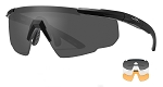 Wiley X Saber Advanced Safety Glasses With Grey, Clear and Rust