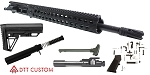 "DTT Customs Elite Series ""Fallow"" AR-15 Featuring An Aero Precision Upper Receiver 16.5"" Mercury Precision 5.56 NATO 1-7T QPQ Nitride Barrel 13"" Troy Alpha Handguard (Assembled or Unassembled)"