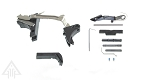 Alpha One Outdoors Glock Frame Kit with Billet Trigger, Extended Mag Release, And Extended Slide Lock for Glock models 17, 19, 22, 23, 31, 32 Gen's 1, 2, & 3