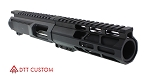"Davidson Defense ""Leda"" AR-15 Pistol Upper Receiver 4"" 9MM QPQ Nitride 1-10T KAK Industries Barrel 6"
