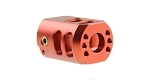 Recoil Technologies Glock 1/2X28 9MM Aluminum MB Dual Top Port Muzzle Brake - Red