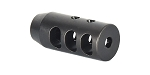 Recoil Technologies AR-15 3 Port Muzzle Brake 1/2x36 - 9MM