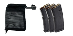Delta Deals 3x Magpul PMAG 30 AR/M4 GEN M2 MOE 5.56X45MM NATO (No Window)  + United Defense Brass Catcher w/ Picatinny Rail Attachment - Black