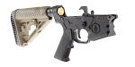 DTT Customs AR-15 Rifle Lower Receiver Build Kit Featuring 3rd Gen Tactical 'Humboldt' Lower Adaptive Tactical AR-15 EX Performance Adjustable FDE Stock Kit KAK Industries LPK (Assembled or Unassembled)