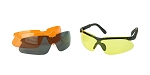 Walker's, Glasses, Smoke Gray, Amber, Yellow, and Clear Lens Kit Included, 1 Pair