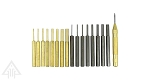 Ultimate Arms Gear 17 Piece Steel and Brass Punch Tool Set