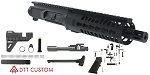 "Davidson Defense ""Tortuga"" AR-15 Pistol Upper Receiver 7.5"" .223 Wylde 4150 CMV 1-7T Barrel 7"" KeyMod Quad Rail Handguard (Assembled or Unassembled)"