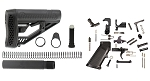 Adaptive Tactical EX-Performance Stock & Tactical Superiority Ar-15 Lower Parts Kit Combo