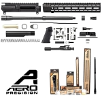 Aero Precision Rifle Build Kit - Every Part Retail Packaged - Optional 80% Lower and Stock