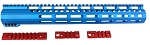 New! Davidson Defense American Series LR308 Low Profile BLUE M-Lok Handguard 15