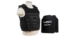 NEW Rifle Caliber Rated Tactical Body Armor Molle Expert Hard Plate Carrier Vest XL With Level III Plus Hard Ballistic Panels - Black (Rifle Caliber Rated to 30-06 & .308 Win)