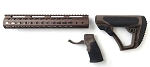 AR-15 Daniel Defense Brown Mil-Spec Collapsible Stock & Omega Mfg 15