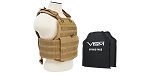 VISM Tactical Body Armor Molle Expert Plate Carrier Vest With IIIA Ballistic Panels - Tan/Fde  **ADD TO CART FOR SPECIAL PRICE**