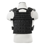 New Vism Fast Attack Plate Carrier Vest Black With Molle Straps Fits Most