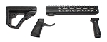 AR-15 Daniel Defense Black Mil-Spec Collapsible Stock & Grip Set &  USA P1812 12