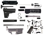Davidson Defense AR-15 Pistol Kit With KAK Blade Lower Parts Kit - Everything except the BCG! (80% Aluminum Lower)