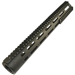 AR-15 Smooth Pro 15-inch Free Float Tube Handguard with Rails & New Barrel Nut
