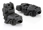 Polymer flip-up MBUS Front and Rear Sights, Black   (Read Disclosure In Listing)