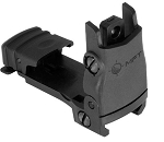 Mission First Tactical Rear Backup Sight Polymer Flip Up **Adjustable Windage** Made In USA