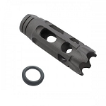 Davidson Defense AR-15 1/2X28 Steel 10 Port Custom Anti-Rise Muzzle Brake; Made in the USA
