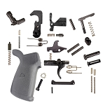 AR-15 Premium USA Made Lower Parts Kit Upgraded With Rubberized Overmoulded Grip