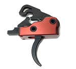 AR-15 M4 3.0 lb Drop-In Ultra Match Skeletonized Trigger System - Crimson Red