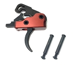 AR-15 M4 3.0 lb Drop-In Ultra Match Trigger System with Anti-Walk Pins - Crimson Red