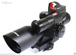 Vector Optics 2.5-10x40 Scope with Green Laser, Red Dot Reflex Sight Combo