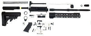 "Davidson Defense ""Nomad"" Ar-15 Rifle Build Kit 16"" M4 .223 Wylde 1:9 T Barrel 10"" Trapezoid Keymod Handguard - Everything Except Lower & BCG"