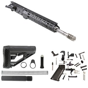 "Davidson Defense AR-15 ""Fire & Brimstone"" Assembled Upper Complete Rifle Kit 18"" Match 6.5 Grendel 5R 1:8T Straight Fluted HBAR 416R Stainless Steel Barrel 13.5"" Aim Sports Free float M-Lok Handguard"