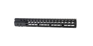 "Guntec 15"" US Made Ultra light 308 Keymod handguard (DPMS Low Profile Spec)"