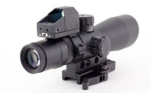 NcSTAR MARK III Tactical Mil Dot 3-9X42 Scope & Micro Red Dot Sight