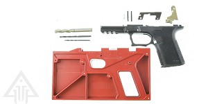 Polymer 80 Compact Longslide 80% Pistol Frame Kit Glock 17 Textured Polymer Black PF940CL With Tools & Jig