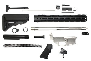 "Davidson Defense AR-15 80% Lower Drop In Trigger .223 Wylde Kit 16"" Stainless Fluted Barrel 1:9 Twist 15"" M-Lok Handguard With Buttstock"