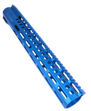 New! Davidson Defense American Series LR-308 Low Profile BLUE M-Lok Handguard 15""