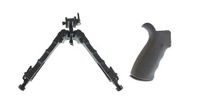 Delta Deals Omega Mfg. AR-15 Rear Beavertail grip, Rubberized Coating + United Defense
