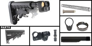 Delta Deals AR-15 Sylvan Arms Folding Stock Adapter + Omega Manufacturing LE Collapsible Stock