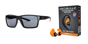 Delta Deals Shooter Safety Packs Featuring Decibullz Custom Molded Earplugs - Orange + Magpul Industries Explorer Glasses - Matte Black