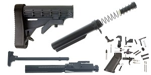 Delta Deals Lakota Ops LR-308 LE Stock Finish Your Rifle Build Kit - .308 WIN/6.5 Creedmoor/.243 WIN