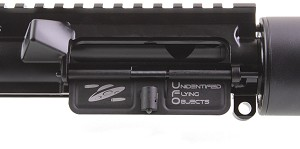 "Omega Mfg. AR-15 ""Unidentified Flying Object"" Laser Engraved Dust Cover"