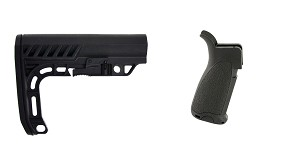Delta Deals Stock and Pistol Grip Furniture Set: Featuring Lakota Ops + Bravo Company
