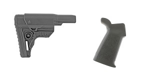Delta Deals Stock and Pistol Grip Furniture Set: Featuring Leapers + Spike's Tactical